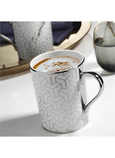 Kütahya Porselen Kütahya Porselen 2 'Li Kaplama Mug Platin 10951 Renkli
